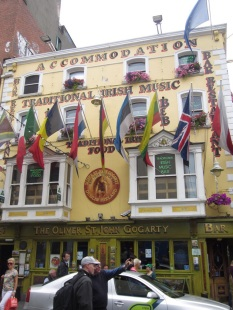 A typical Irish pub...we are going to this one tomorrow night with our students.