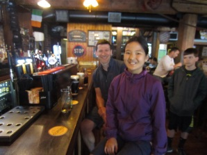 Abbie at the Bar (with Dad)