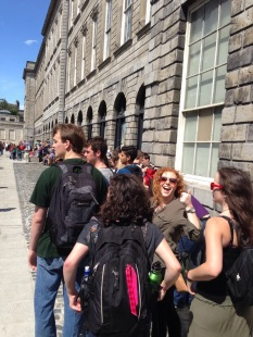 In line at the Book of Kells