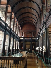 The far end of the Long Room, Old Library, Trinity College