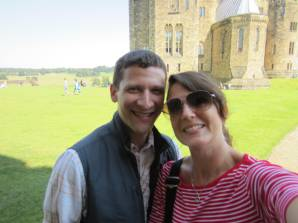 On the grounds of Alnwick Castle