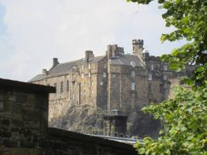 Edinburgh Castle from the kirkyard