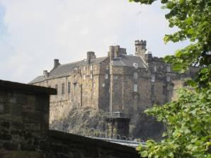 Edinburgh Castle from the kirkyard