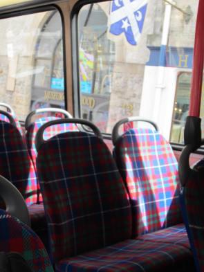 Tartan bus seats!