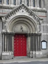 Door of St. Anne's Irish Church