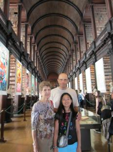 Long Room with Grandma and Grandpa