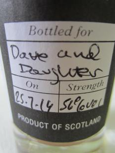 Highland blend, direct from cask, for Erin and Dave
