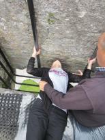 Grandma kisses the Blarney Stone
