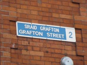Historic Grafton Street sign