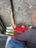 Grandpa kisses the Blarney Stone