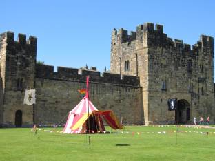 One of the Harry Potter tents at Alnwick Castle