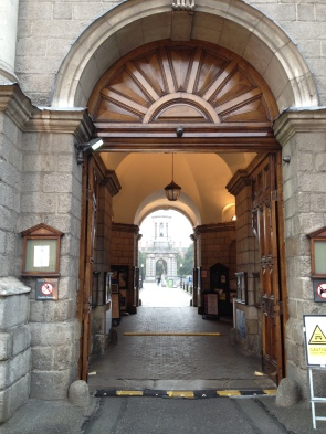 Main entrance, open for more than pedestrians at the moment