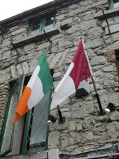 Tricolor and Galway Region flags