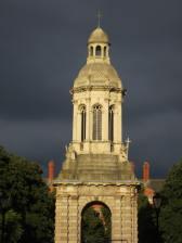 Campanile, nearing dusk, Trinity College