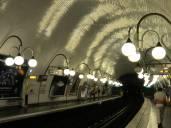 Metro stop under Île de la Cité