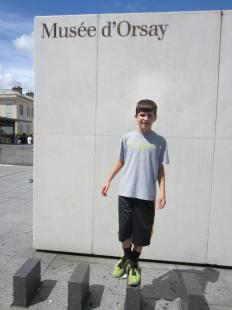 Jackson outside d'Orsay