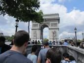On the way to the Arc de triomphe