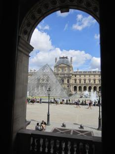 Main Pyramid (from inside Louvre)
