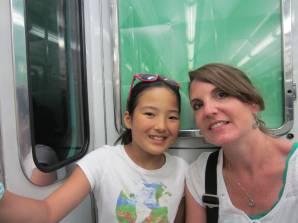 Abbie has taken a liking to the Metro