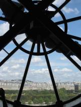 A view from the clock at Musee d'Orsey