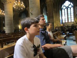 Taking in a service, Notre Dame Cathedral