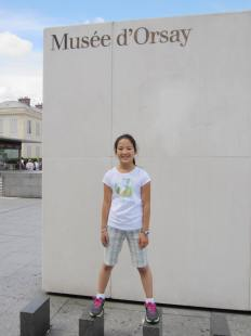 Abbie outside d'Orsay