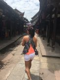 At Huanglongxi Ancient Town